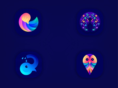 Animals App Icons graphic logodesigner creative amazing brandidentity branding design logoicon icon design iosappicon design appicon logodesign logo lalit logo design brand identity branding india designer logo designer