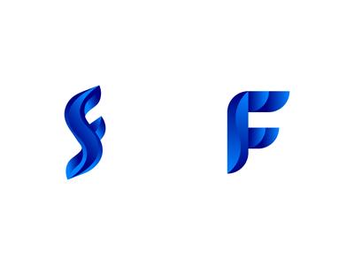 SF or FS logo concept