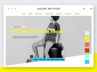 House Method Alternate Website Concept
