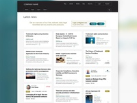 News landing page