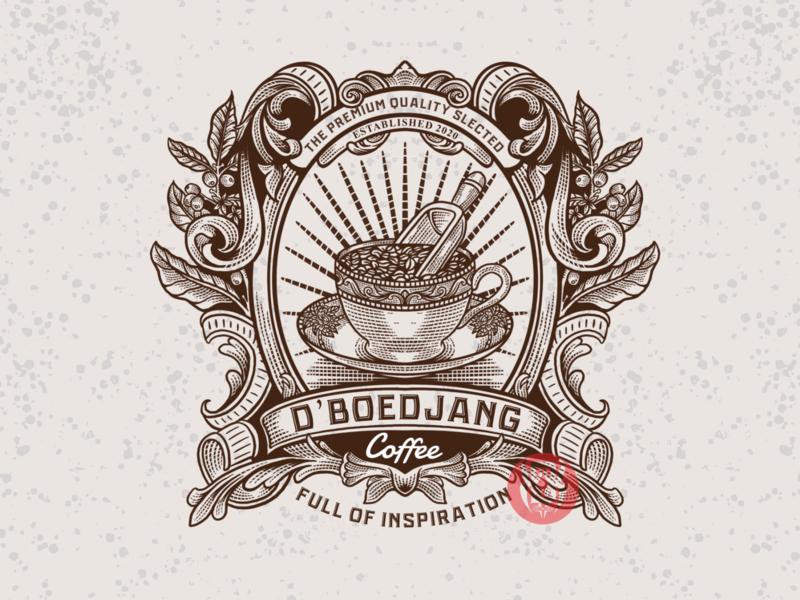 "design i did for ""D'BOEDJANG COFFE"" ☕️ fiverr coffe espresso graphicdesigner hand drawn ilustration 99designs badgedesign"