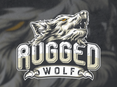 masculine logo of a wolf vektorgrafik vektor artwork graphicdesign logodesigns ilustration illustrator badgedesign logo wolf