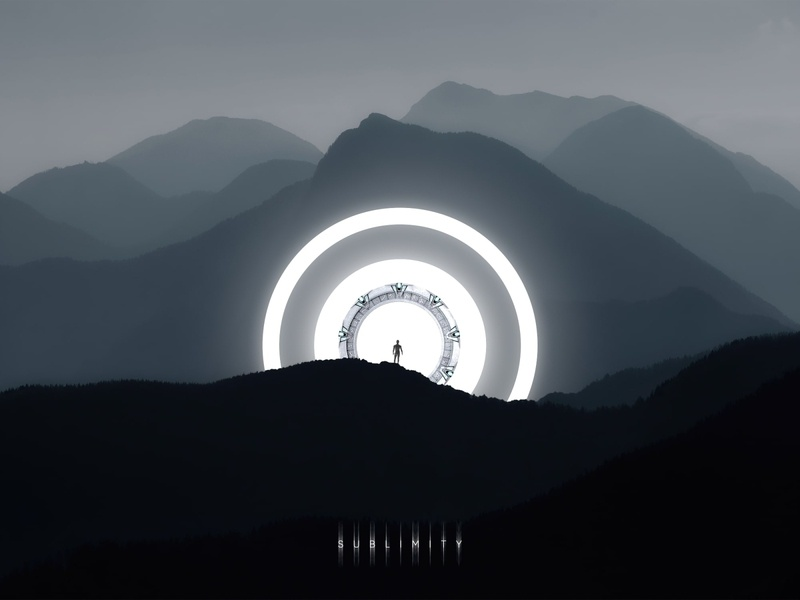 Sublimity 2020 trend inspiration inspire stylish style edit photo photoshop illustration shine shape geometry monochrome landscape nature mountains art sci-fi digital