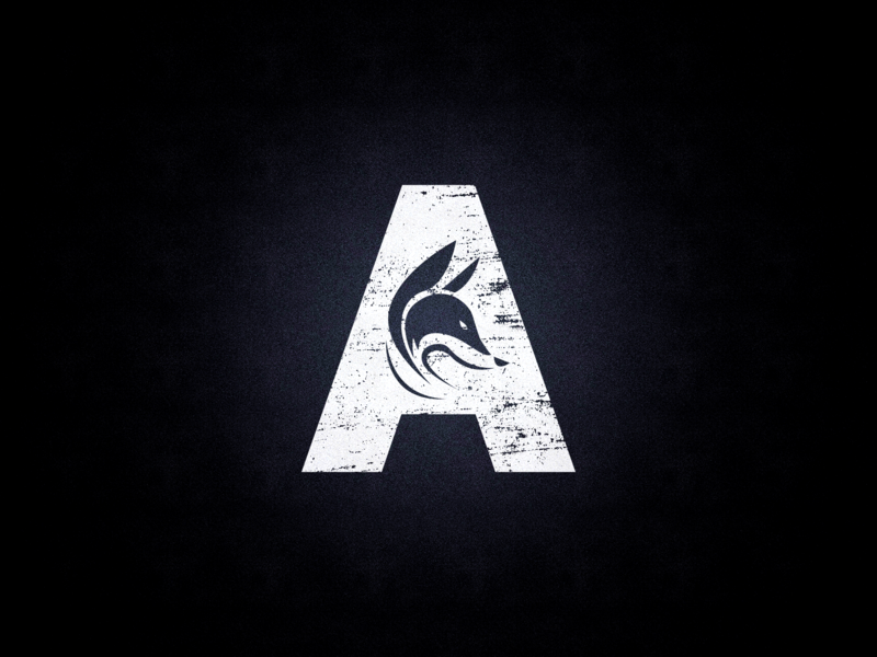 Archie sign logo illustration brand design brand letter lettering fox dark clean minimal branding black typography design