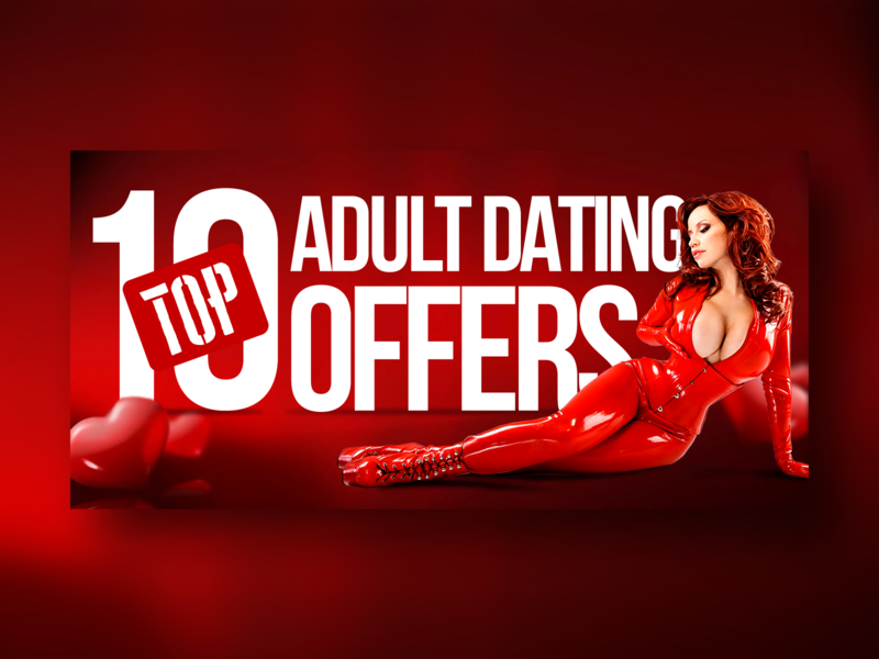 Adult Offers sexual sexuality sex dating web advertisement ads banner branding sexy girl sexy woman bright red adult typography design