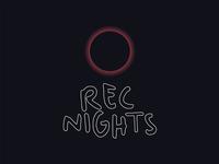 Visual Identity For Rec Nights