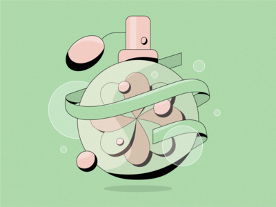 Perfume green scent flower perfume vector illustration 2d illustration illustrator illustration