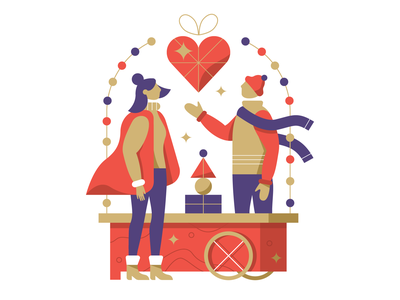 Christmas Illustration christmas market christmas flyer christmas character character design vector illustration vectorart 2d illustration illustrator illustration