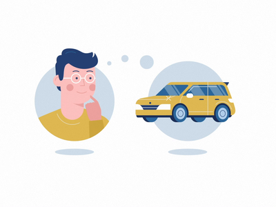 Looking for a car character car 2d illustration character design after effects motion design vector illustration animation illustrator illustration 2d animation