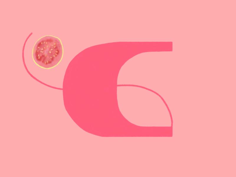 Guayaba. #36daysoftype illustration letter 36dayoftype fruit guayaba guava