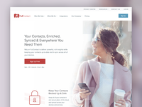 Redesigned FullContact for Individuals Page