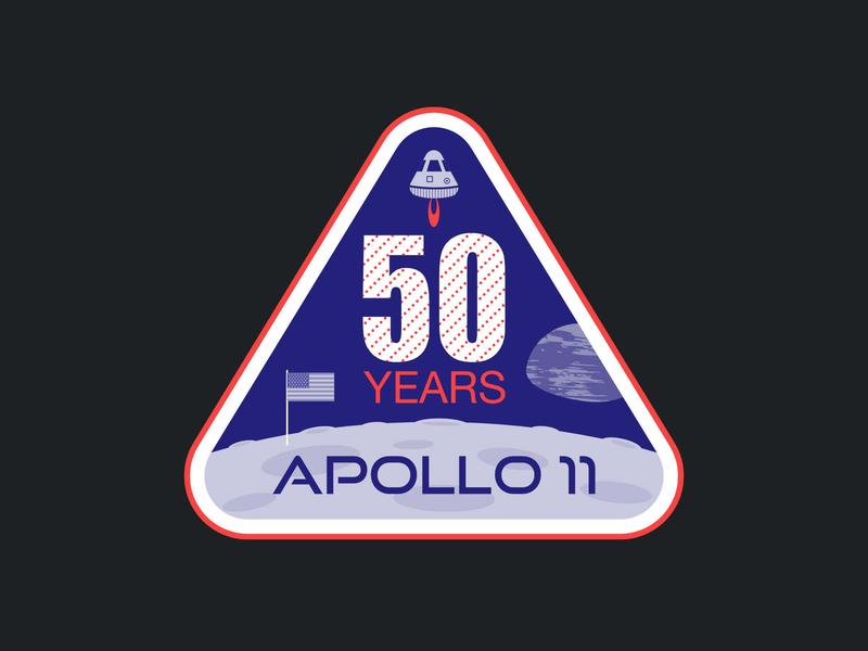 Apollo 11 Badge moon landing affinity designer badge design nasa apollo illustration