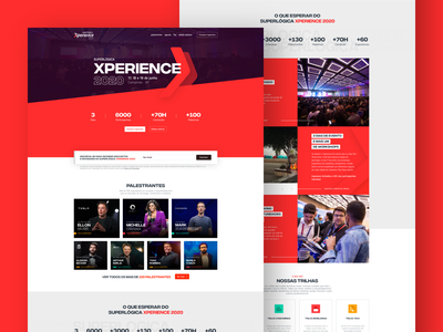 Superlógica Xperience 2020 ui web typography flat clean design conference