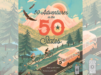 50 Adventures in the 50 States Cover adventure book illustrated book book illustration character design illustration art illustrator digital illustration illustration editorial illustration 50 adventures childrens publishing childrens illustration kidlit quarto childrens book childrens book illustration