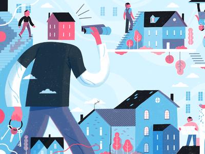 Home and Hospitality Management Illustration