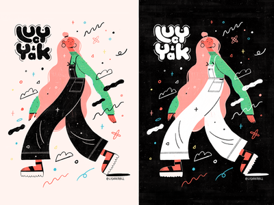 Lucy and Yak Postcard