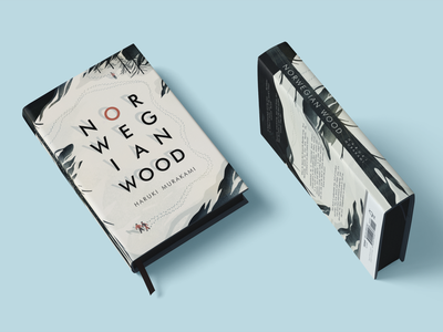 Norwegian Wood Book Cover branding design illustrator illustration art digital illustration editorial illustration illustrated book cover illustration book cover book sleeve design norwegian wood haruki murakami
