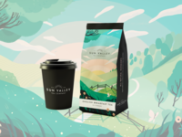 Sun Valley Tea Company Branding illustrated packaging product design packaging design logo design speculative branding illustrated branding branding design illustrator digital illustration illustration editorial illustration