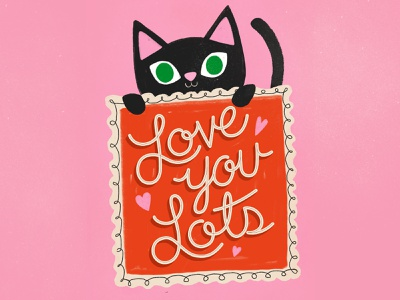 Valentine Cat cute illustration cute childrens illustration typography lettering valentine day valentine cat