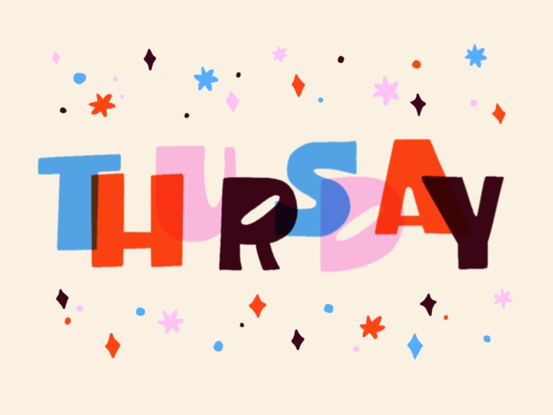 Thursday 1 midcentury thursday typography lettering illustration design colorful color