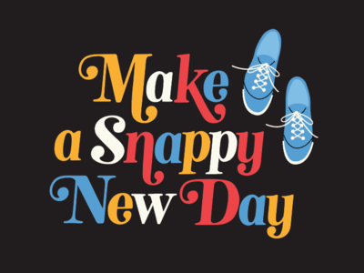 Snappy New Day pittsburgh tee shirt illustration sneakers lettering snappy mr rogers