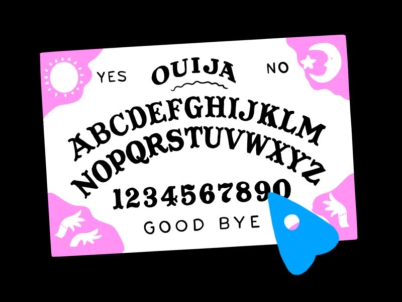 Ouija board october procreate spooky halloween design ouija board illustration halloween