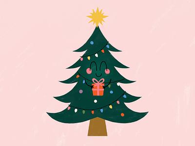 Christmas helper cute illustration cute holidays childrens illustration christmas illustration xmas illustrator christmas