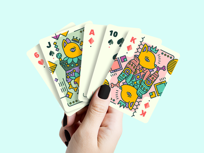 Pupper Playing Cards mockup jack king ace game card  game cards illustration cute puppy dog