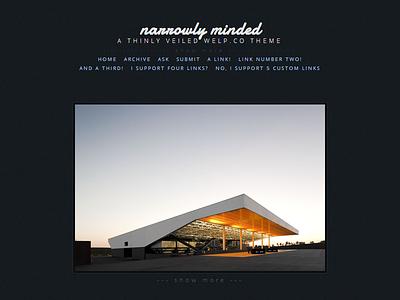 Narrowly Minded web design tumblr blog design website theme