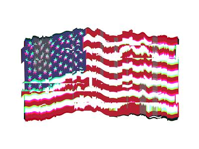 Something Went Wrong glitchart glitch american flag america politics