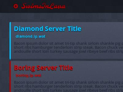Swims In Lava rev6 web design web design minecraft