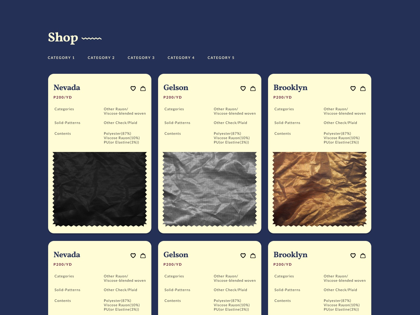 Product cards for a product company website cards design lato web design figma