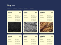 Product cards for a product company website