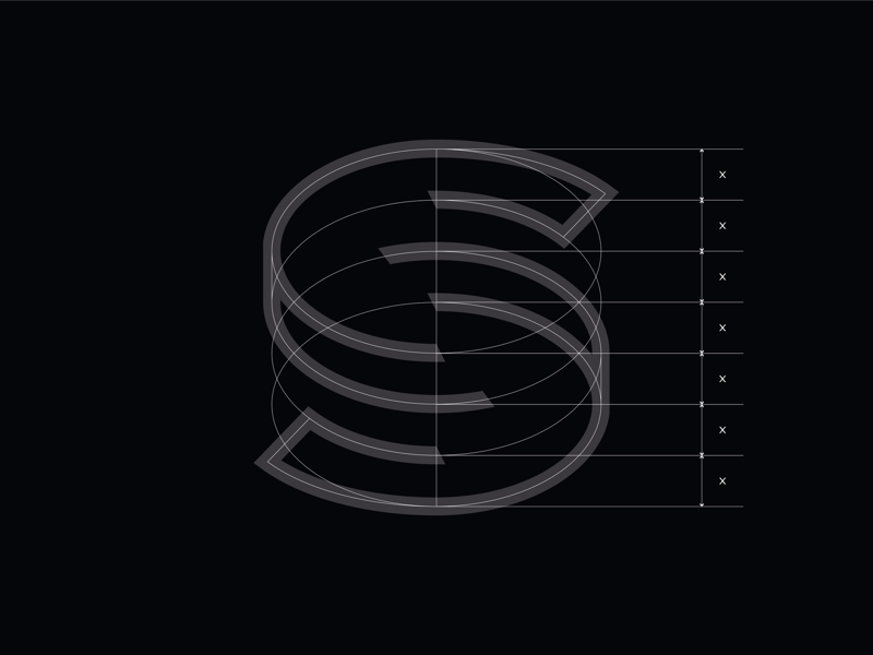 Letter S - Wireframe construction circular vector structure iconography behind the scenes icon lettering typeography build motion character typography s letters letter outline wireframe illustration
