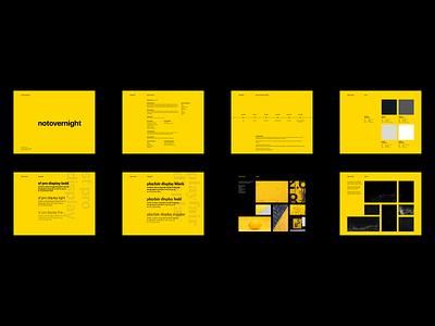 Branding • notovernight branding and identity brand branding brand identity branding concept layout exploration