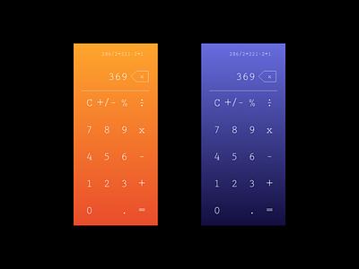 Daily UI 004 • Calculator iphone ui design uidesign ui