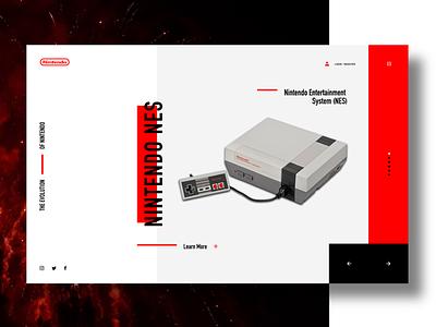 Nintendo NES web design website concept ux ui