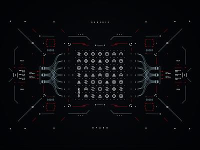 GENESIS fui ui screen cyberpunk graphic