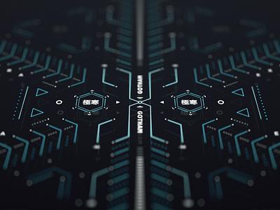 Gotham EX 2 sci-fi fui ui screen cyberpunk graphic