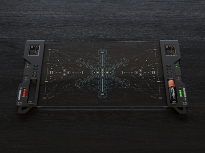 AGNISER device product sci-fi octanerender cinema 4d design fui ui cyberpunk