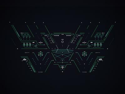 GRAVITY hud infographic sci-fi design screen fui ui cyberpunk graphic