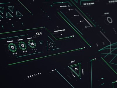 GRAVITY II monitor graphics sci-fi design screen fui ui cyberpunk graphic