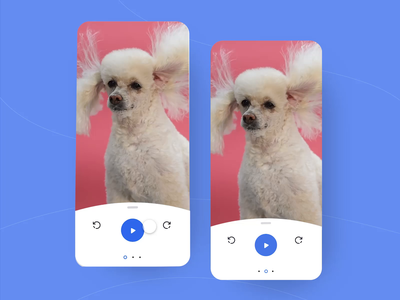 Video Sharing App: Share Options freelance app mobile preview video player video edit video app music play dog funny animation prototype movie video edit sharing adobe xd adobexd share