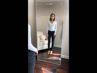Augmented Reality Smart Mirror Closet smart mirror mirror interface design ar shopping retail shopping virtual reality virtual prototype future ar future ux future mirror daily challenge augmented reality ux ui