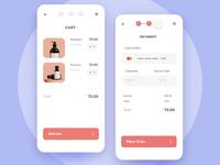 🛒E-Commerce Checkout Flow ui mobile ecommerce shop steps payment cart animation app prototype