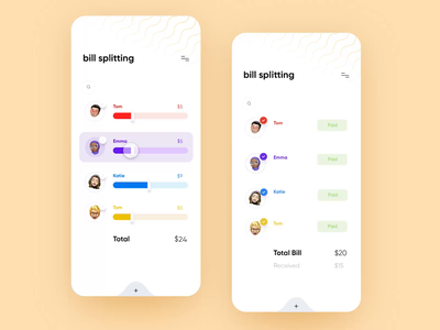💸Bill-Splitting App saint louis st. louis freelance design adobe xd food restaurant livestream friends paid transaction bank venmo money app ux ui money app split bill