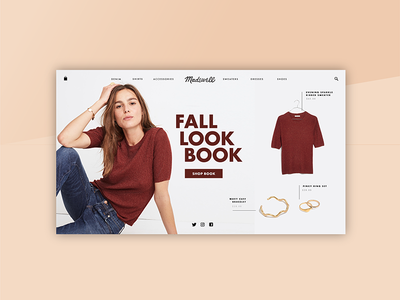 Daily Ui Challenge 003 - Landing Page website ecommerce look book landing page shop shopping madewell challenge daily dailyui ui 003