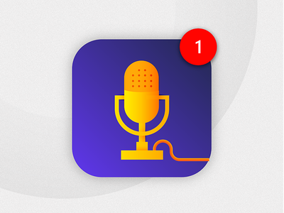 Daily Ui Challenge 005 - App Icon apple podcast microphone icon podcast icon app icon challenge gradient daily dailyui application 005
