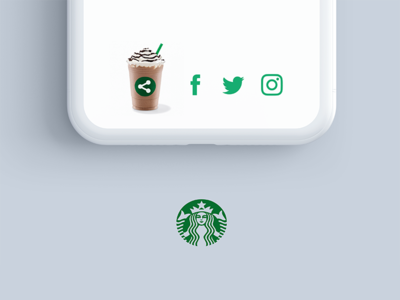Daily Ui Challenge 010 - Social Share mobile vx 010 challenge daily ui daily coffee playful starbucks share sharing social share