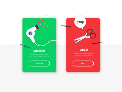 Daily Ui Challenge 011 - Flash Message haircut card success flash flash message 011 vx mobile challenge daily daily ui